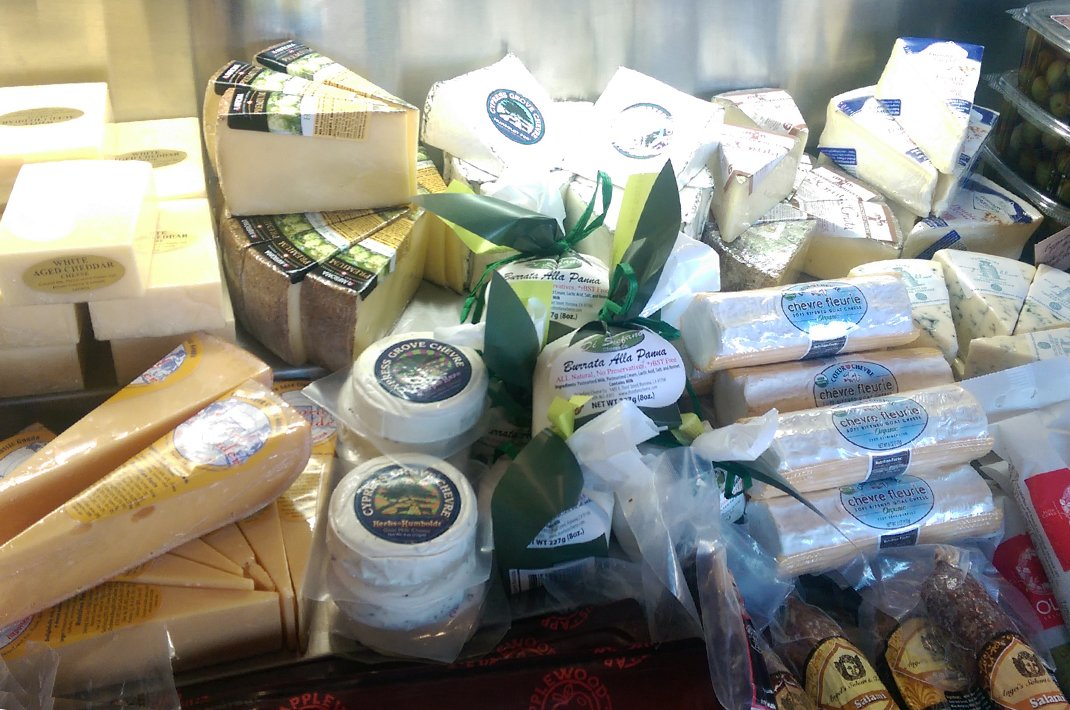 Our Gourmet market cheeses