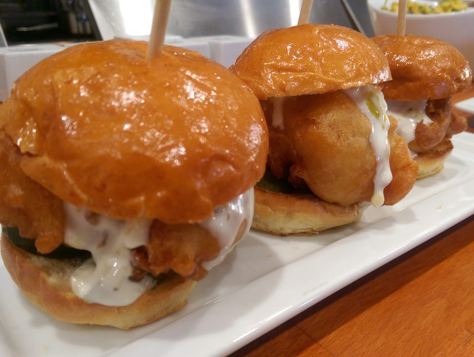 Fried Cod Sliders