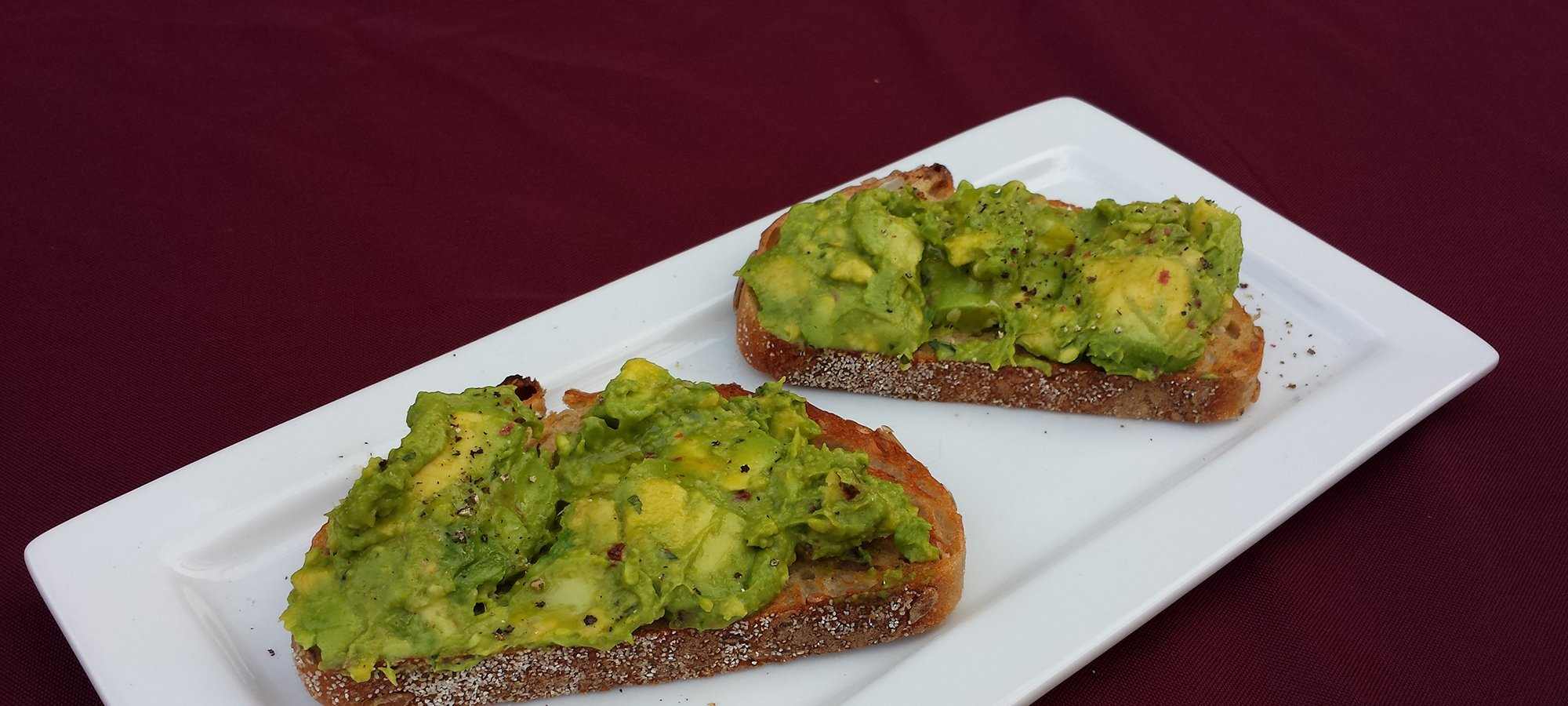 Avocado Toast ginger thai baqsil chili sunflower seed toast