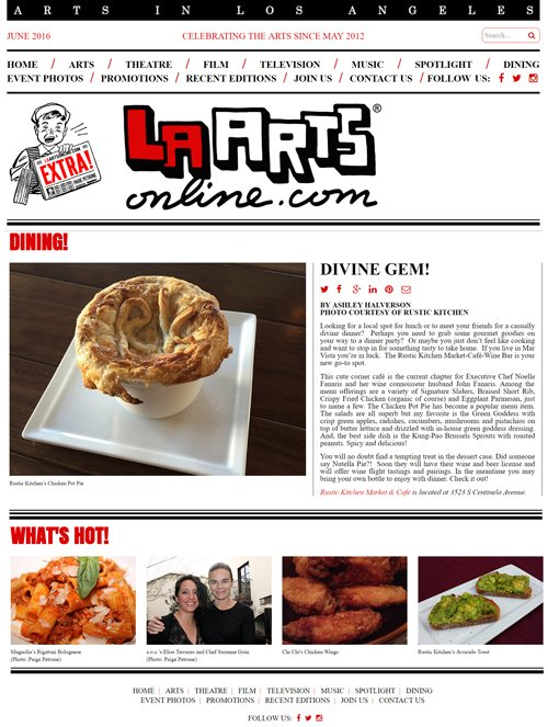 LA ARTS online review on June 2016